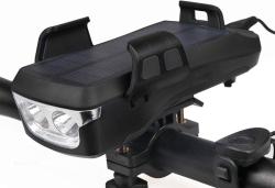 KWDA 4-in-1 Solar Fahrradleuchte mit 4.000 mAh Akku, Smartphonehalter und Powerbank-Funktion für 10,98 Euro