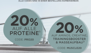 Fitmart: 20% Rabatt auf alle Proteine + 20% Rabatt auf Aminos, Creatine und Booster