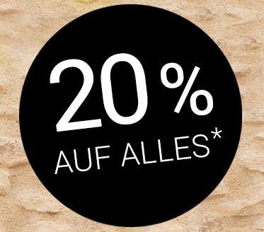 20% Rabatt auf das gesamte Sortiment im Gebrüder Götz Onlineshop