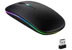GeekerChip Wireless Funk/Bluetooth Maus mit LED Beleuchtung für 7,89 Euro