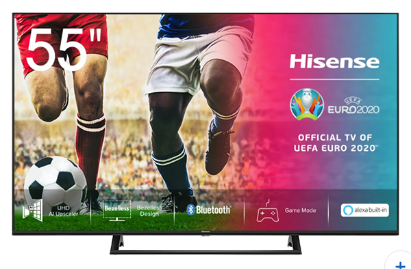 55 Zoll Hisense 55AE7200F 4K/UHD LED Smart TV für nur 399,- Euro (statt 449,- Euro)