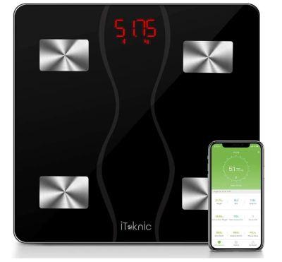 iTeknic Körperfettwaage (BT, mit App synchronisierbar) für nur 9,99 Euro inkl. Versand