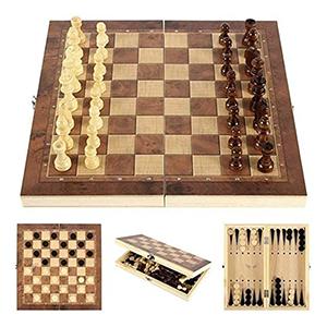 Lixada 3-in-1 Spielbrett (Schach, Dame, Backgammon) für nur 9,99 Euro