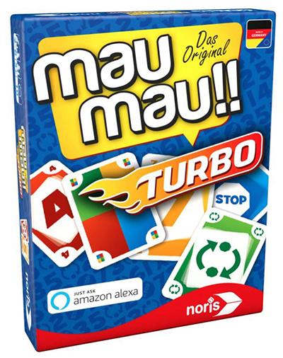 Noris 608131751 Mau Mau Turbo Kartenspiel (mit Alexa fähigem Gerät spielbar) für nur 3,97 Euro (statt 7,- Euro)