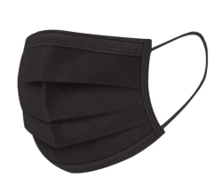 50 Stück HXZH Einwegmundschutz in schwarz für 6,- Euro