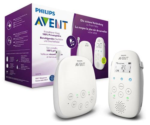 Philips Avent Audio-Babyphone SCD713/26 (DECT, 18 Std. Laufzeit, Gegensprechfunktion) für nur 69,76 Euro inkl. Versand