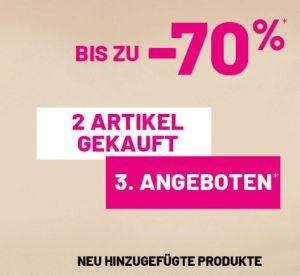 Letzte Reduzierung: Großer Pimkie Sale mit 3 Artikeln zum Preis von 2. Alle Artikel sind bereits bis zu 70% reduziert!