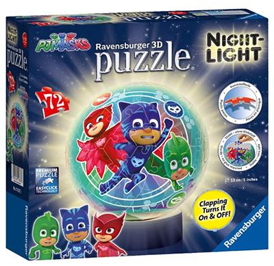 Ravensburger 11837 PJ Masks Nachtlicht 3D Puzzle (72 Teile) für nur 12,54 Euro inkl. Versand