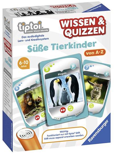 Ravensburger tiptoi 00767 Wissen und Quizzen: Süße Tierkinder (ab 6 Jahren) für nur 4,99 Euro (statt 10,- Euro)