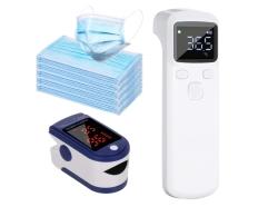 Anself Digitales Fieberthermometer + Finger-Pulsoximeter + 50 x Mundschutz für zusammen 12,99 Euro