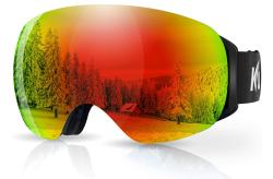 Rahmenlose KUYOU Skibrille mit Anti Fog Glas für 6,91 Euro