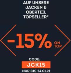 Bis zu 50% Rabatt im großen SportScheck Sale + 15% Extra-Rabatt auf Jacken und Oberteil Topseller