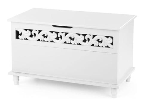 IKAYAA Sitzbank und Aufbewahrungstruhe in weiß für nur 50,99 Euro inkl. Versand