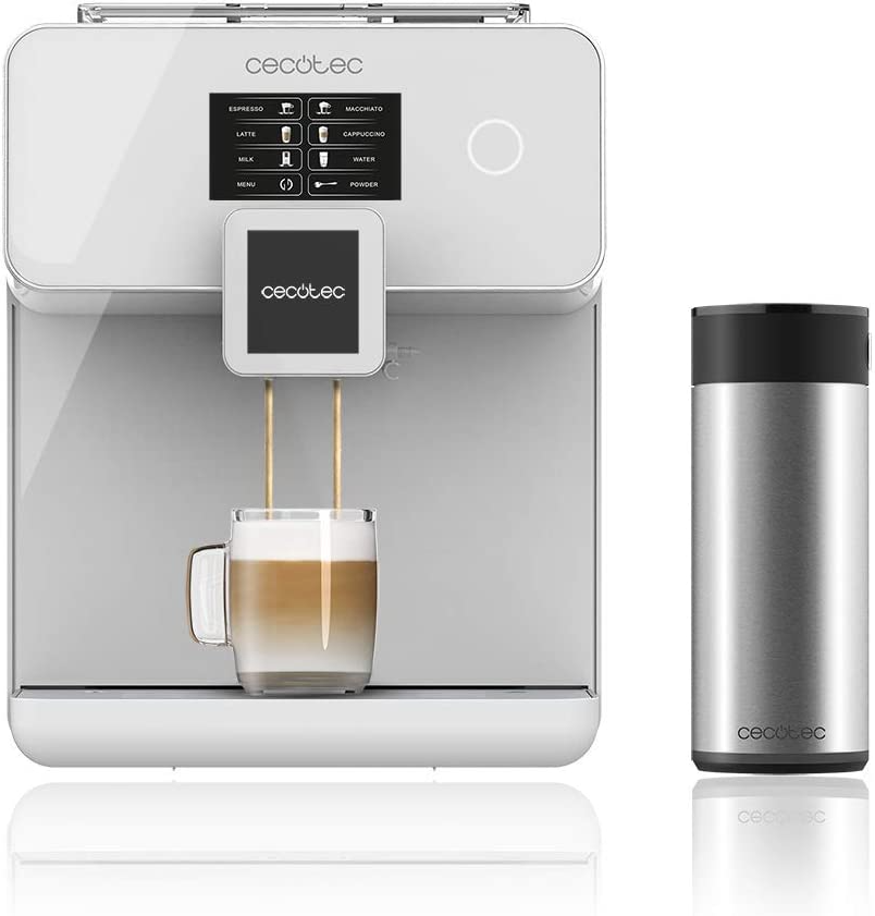 Cecotec Cumbia Power Maticccino 8000 Touch Serie Bianca – Kaffeemaschine, 19 bar Druck, Touchscreen, 1400 W für nur 349,- Euro inkl. Versand