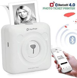 Flytise Mini Wireless BT Thermodrucker – Via Bluetooth Fotos drucken! für 29,98 Euro