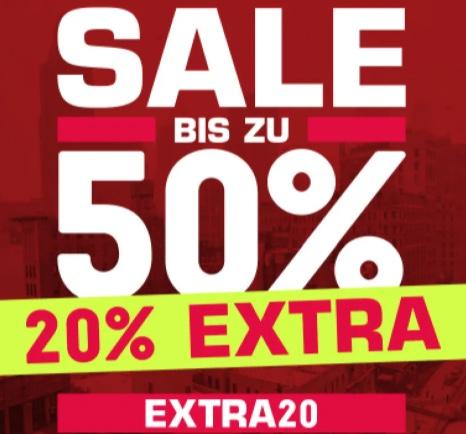 Snipes Sale: Bis zu 50% Rabatt + 20% Extra Rabatt auf Sale Artikel