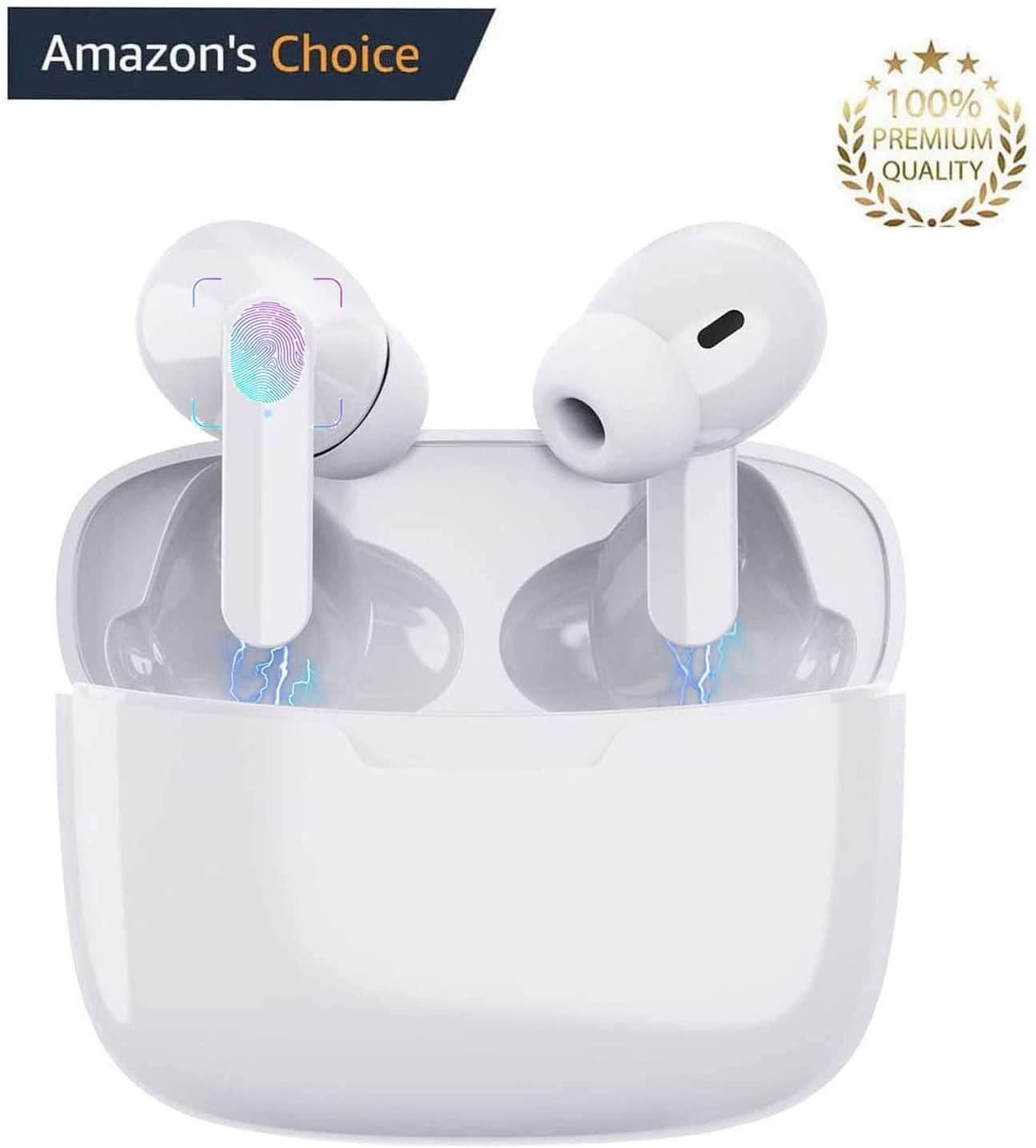 Bluetooth 5.0 In-Ear Kopfhörer, wassergeschützt, Noise-Cancelling in weiß nur 19,99 Euro inkl. Versand