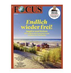 6 Monate (26 Ausgaben) des FOCUS für 132,60 Euro – als Prämie: 130,- Euro Amazon Gutschein