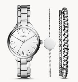 Fossil Set Damenuhr Suitor Metalllegierung + Armbänder für 48,30€ (statt 139€)