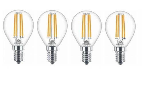 4er-Pack Philips (E14 LED 6.5W) Birnen für nur 9,99 Euro inkl. Versand (2,50 Euro pro Birne statt 3,33 Euro)