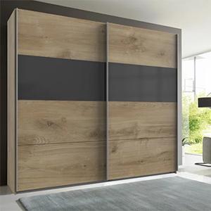 Modern Living Schwebetürenschrank (Grau/Eichefarben) für nur 272,30 Euro inkl. Lieferung
