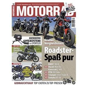 Top! 3 Monate (6 Ausgaben) MOTORRAD für 29,70€ – als Prämie: 25€ Amazon-Gutschein