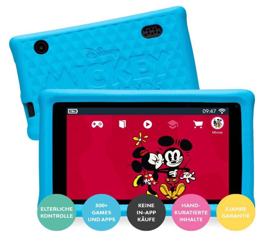 7″ Pebble Gear Disney Kids Tablet versch. Designs (stoßfester Bumper, 500+ Spiele etc. , Wi-Fi, 16 GB) für nur 79,99 Euro