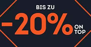 Bis zu 20% Extra-Rabatt auf ausgewählte Taschen & Rucksäcke im SportScheck Onlineshop