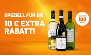 Nur noch heute: 10€ Extra-Rabatt auf über 100 Weine bei Weinvorteil (MBW: 50€)
