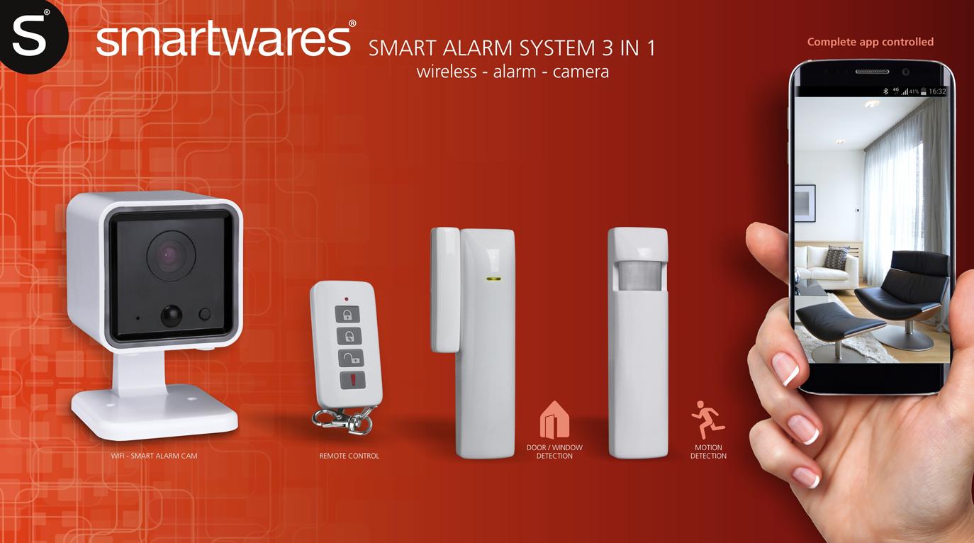 Smartwares Alarmsystem Set mit Bewegungsmelder, drahtlos Kamera und APP-Steuerung für nur 39,99 € inkl. Versand