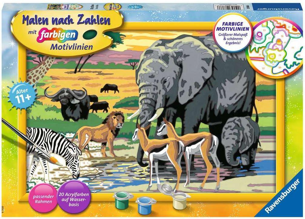 Malen nach Zahlen 28766 - Tiere in Afrika