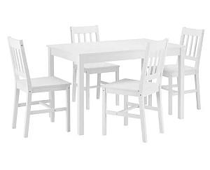 Tischgruppe Amira in weiß von Bessagi Home (Tisch mit 4 Stühlen) für nur 180,25 Euro