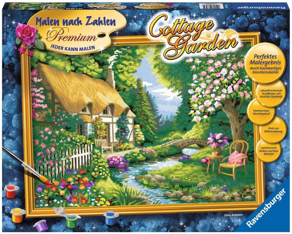 Malen nach Zahlen 28843 - Cottage Garden