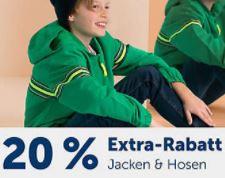 20% Rabatt auf alle Jacken und Hosen im myToys Onlineshop