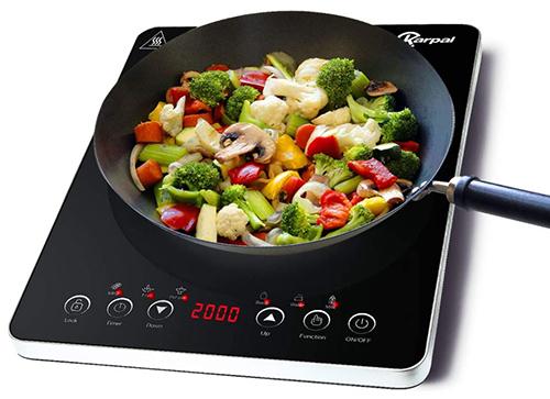 Karpal Induktionskochplatte (2000W, 9 Temperatureinstellungen, Sensor-Touch, Timer) für nur 28,69€