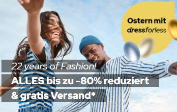 Bis zu 80% Rabatt auf fast Alles bei Dress-for-Less + 22% Extrarabatt + versandkostenfreie Lieferung