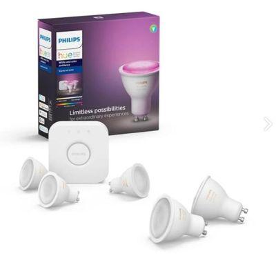 Philips Hue White Color GU10 Starter Set – 5x GU10 für 165,39€ inkl. Versand
