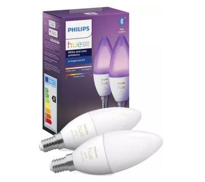 Philips White & Col. Amb. E14 Lampe Doppelpack (2x470lm) für nur 61,15€ inkl. Versand
