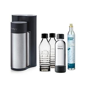 Sodapop Harold Trinkwassersprudler mit 2 Glaskaraffen, 1 PET Flasche & CO2-Zylinder für nur 69,99 Euro