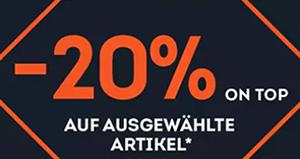 SportScheck Midseason Sale mit 20% Extra-Rabatt auf über 3.200 Artikel