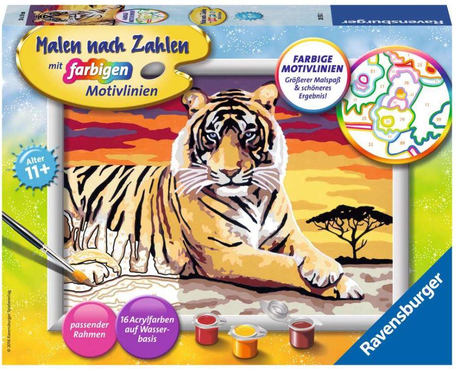 Malen nach Zahlen 28553 - Majestätischer Tiger