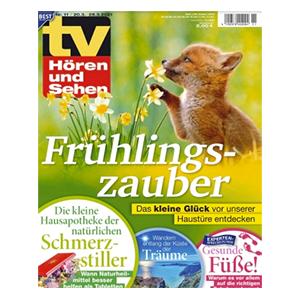TV Hören und Sehen Jahresabo für 130€ – als Prämie: 105€ Verrechnungsscheck