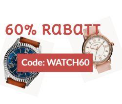Endet heute! 60% Rabattgutschein auf verschiedene Uhren im Fossil Onlineshop!