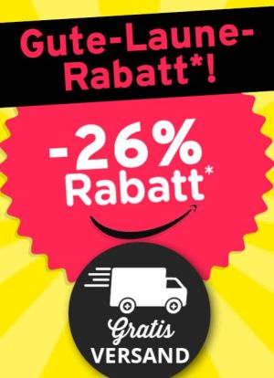 26% Rabatt Gutschein auf das gesamte Sortiment im Vorteilshop (MBW: 25€) und kostenloser Versand