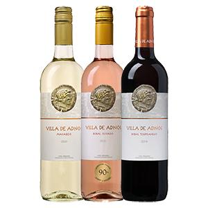 12er-Paket Villa de Adnos (Weiß-, Rosé- oder Rotwein) für nur 47,88€ inkl. Lieferung