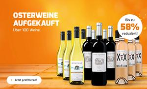 Weinvorteil Oster-Angebote mit bis zu 58% Rabatt + 20% Extra-Rabatt ab 12 Flaschen