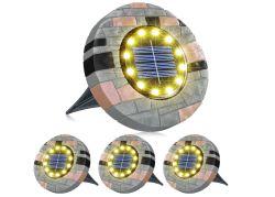 4er Pack Biling Solar Bodenleuchten mit 12 LEDs für nur 11,49€