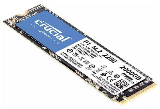 Crucial P1 CT2000P1SSD8 M.2 3D NAND NVMe PCIe SSD für nur 169€ inkl. Versand