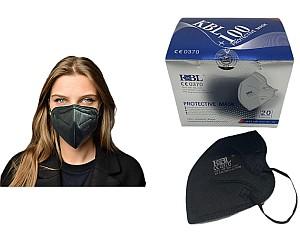 100x FFP2 Masken (schwarz, CE Zertifikat 0370 EN 149:2001) für 34,95€ inkl. Versand (0,35€ pro Maske)