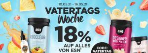 Vatertagsdeal: 18% Rabatt auf alle Produkte von ESN im Fitmart Onlineshop